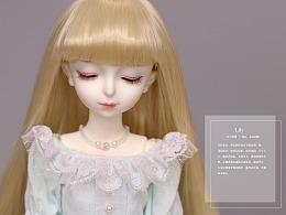 BJD+插画【花花姑娘·倒影】百合姑娘,盛夏光年