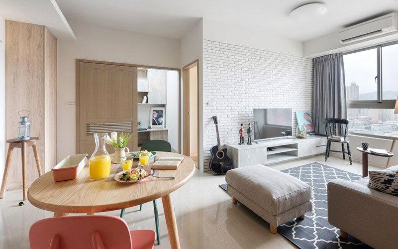 驻马店60平小户型公寓装修图,不拘一格做设计