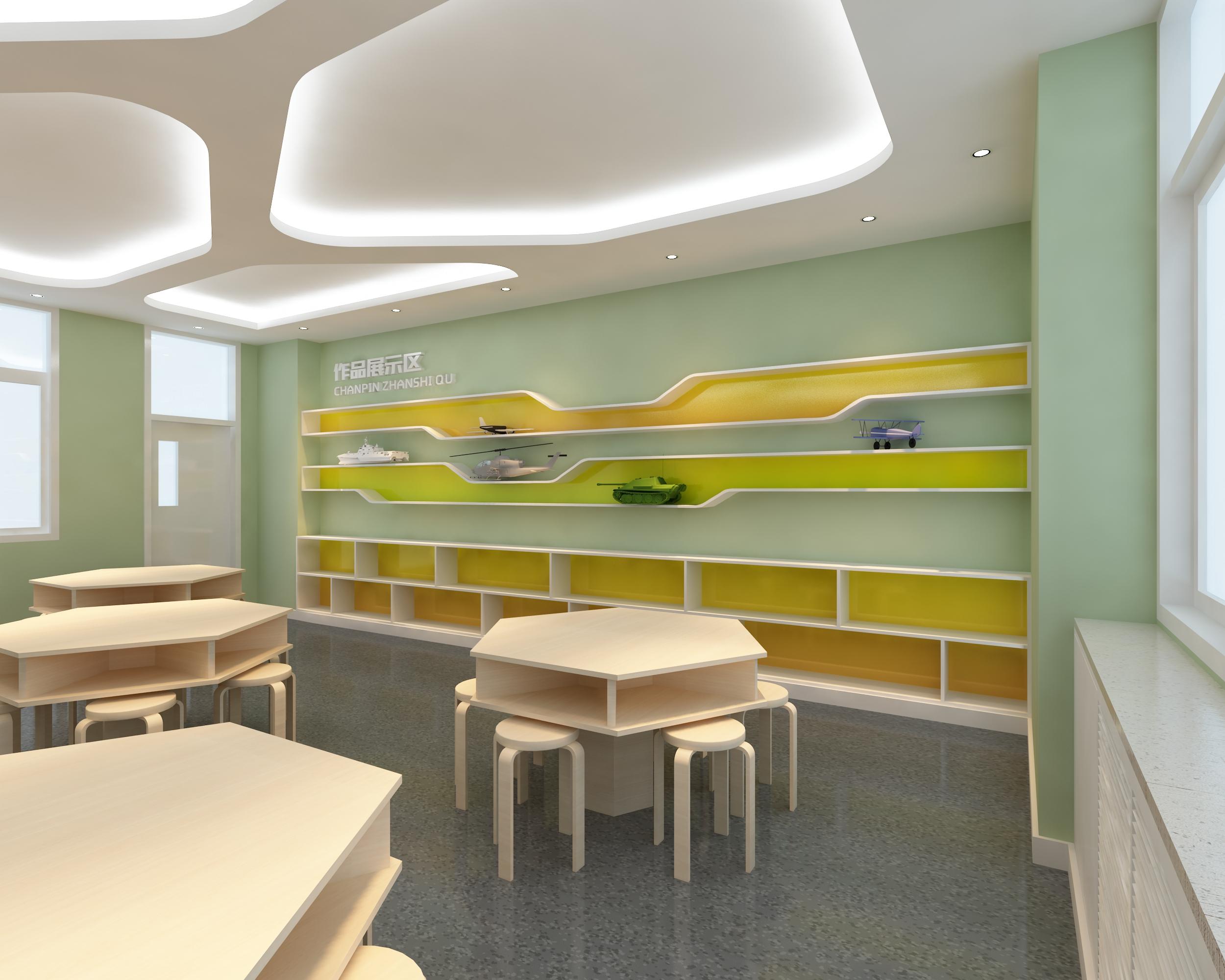 沙画教室 创客教室|空间|室内设计|处女座的马 - 原创图片