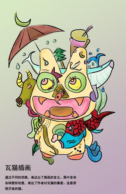 纯手绘12星座瓦猫创意设计