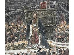 中國經典故事優秀連環畫《張良納履》參展作品