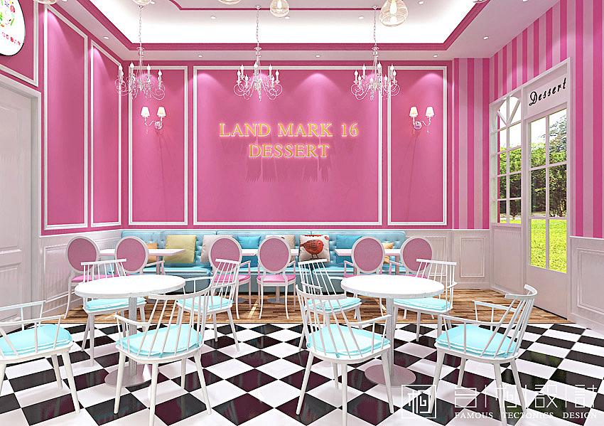 福建三明 欧式风格甜品店装修设计图片