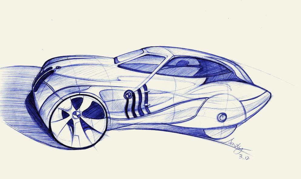 汽车手绘草图|工业/产品|交通工具|idge - 原创作品