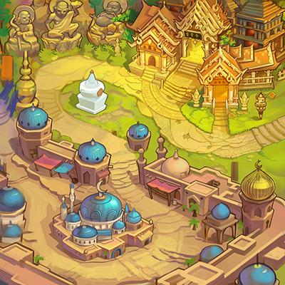 q版地图|游戏原画|插画|赛伦博 - 原创设计作品
