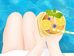 夏天爱喝水果茶
