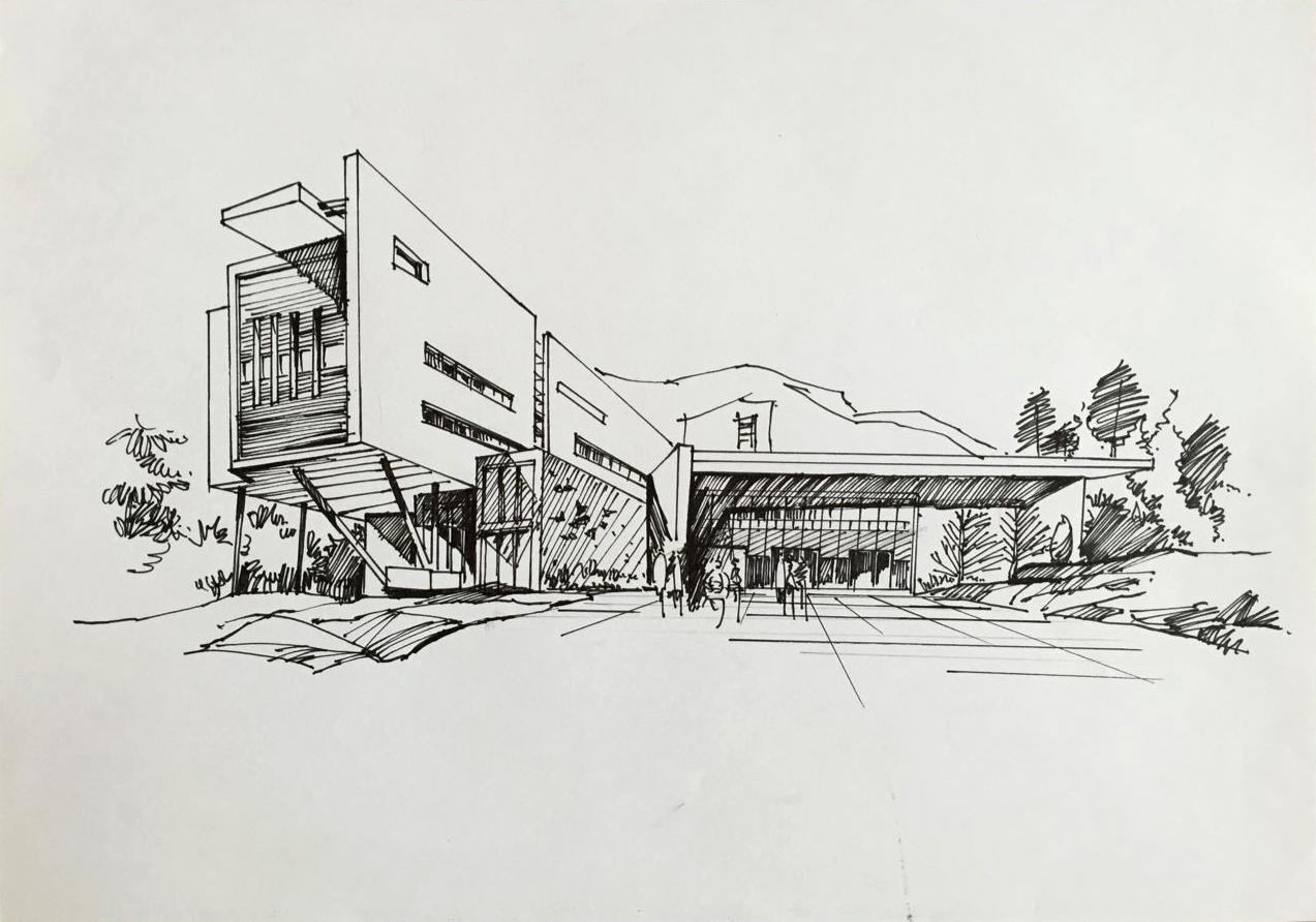 建筑手绘作品集|空间|建筑设计|fengfan1 - 原创作品