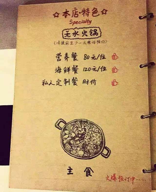 手绘咖啡店菜单