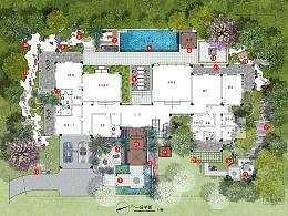 景观设计:《华发公馆花园别墅庭院景观升级设计》