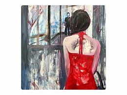 王孟华油画《触不可及》