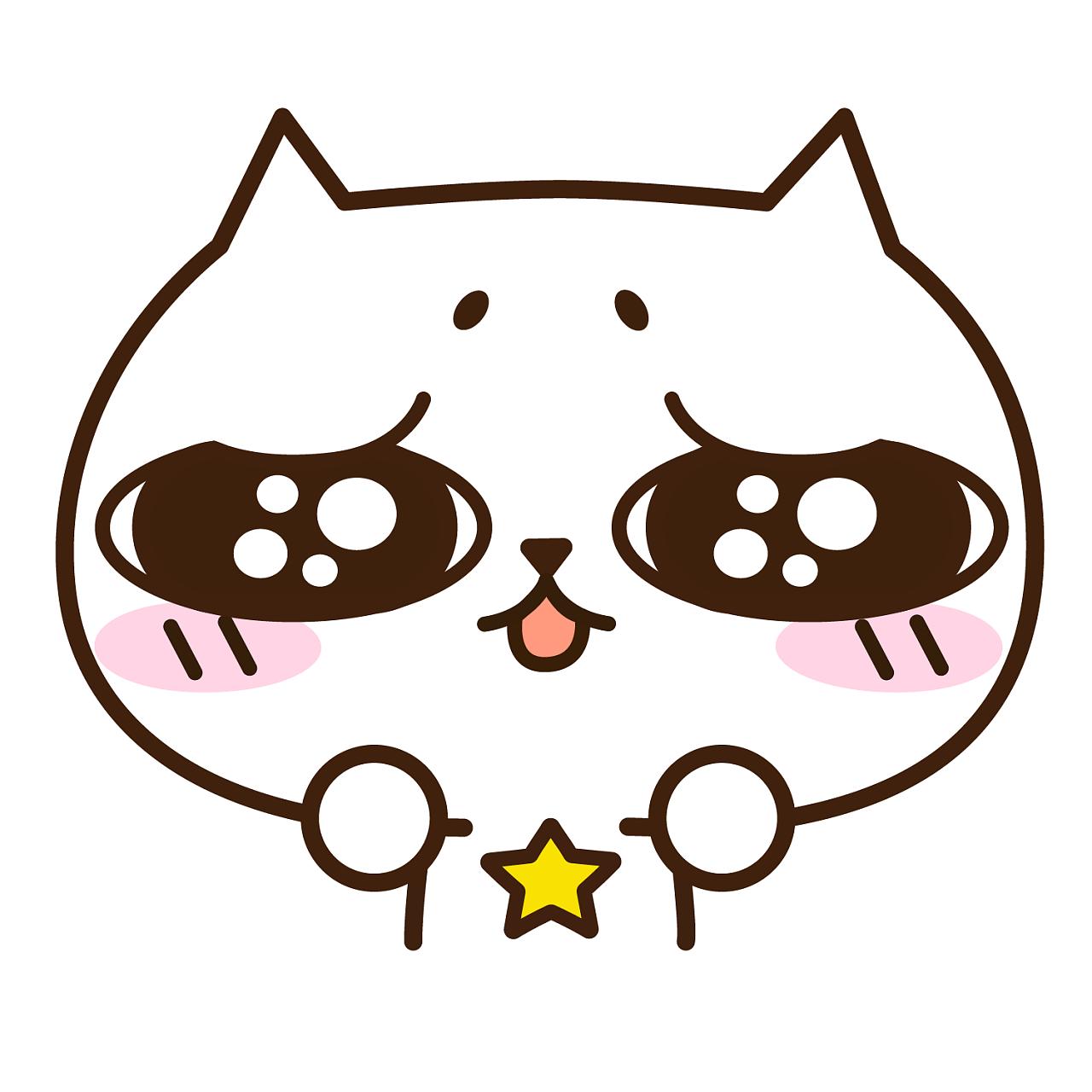 猫星星插画|概念|表情设定|猫表情101-原创作品-站酷(ZCOOL)星星包摸摸头安慰的图片