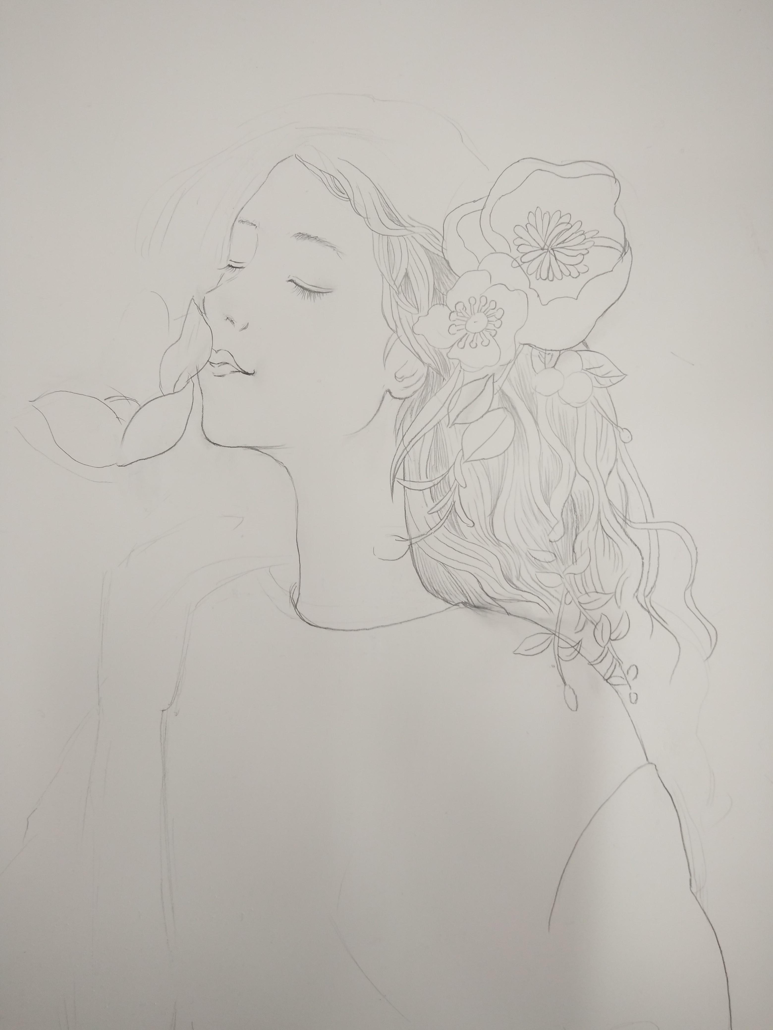 简笔画 手绘 素描 线稿 3120_4160 竖版 竖屏