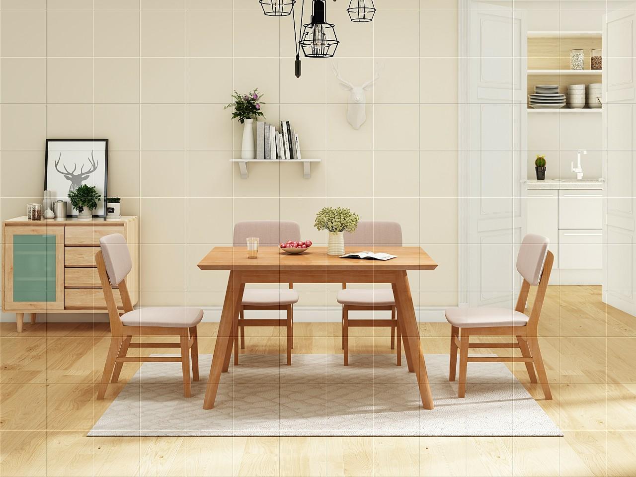 北欧实木系列之餐桌图片