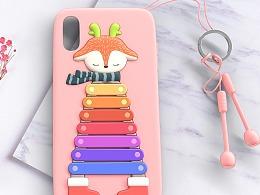 趣味手机壳设计-小鹿敲琴