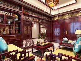 中式装i徐 客厅