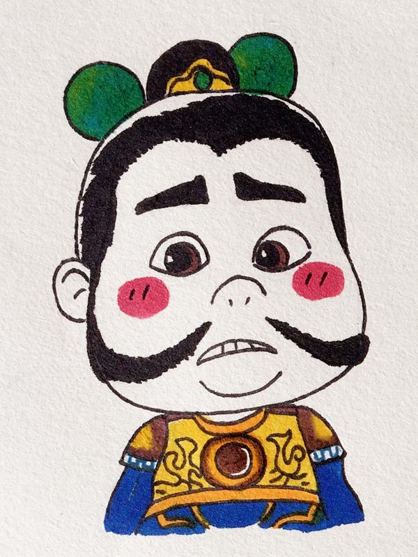 小漫画原创 单幅漫画 门神 佐佑想-手绘v漫画动漫sbs图片