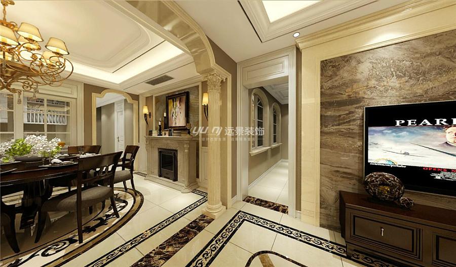 中航风格城底跃230平欧式别墅装修设计-渝北洋简氏里翡翠图片
