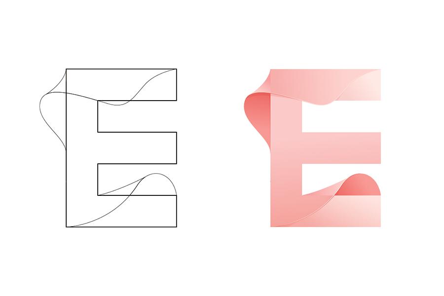 英文字母设计-e