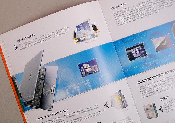 企业画册设计,上海宣传册设计公司,神达电脑企业宣传页设计图片,公司图片