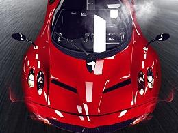 法拉利概念跑车拟物精致图标