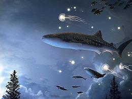 梦幻系视觉海报,海洋之森