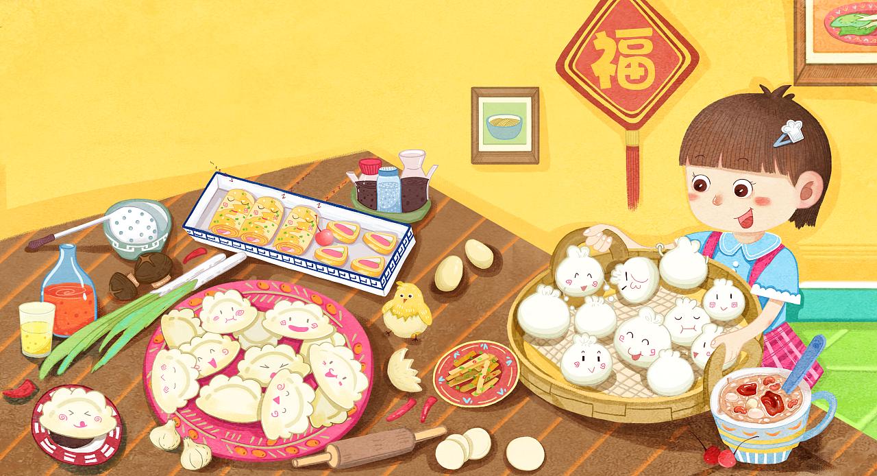 包子饺子八宝粥煎饼