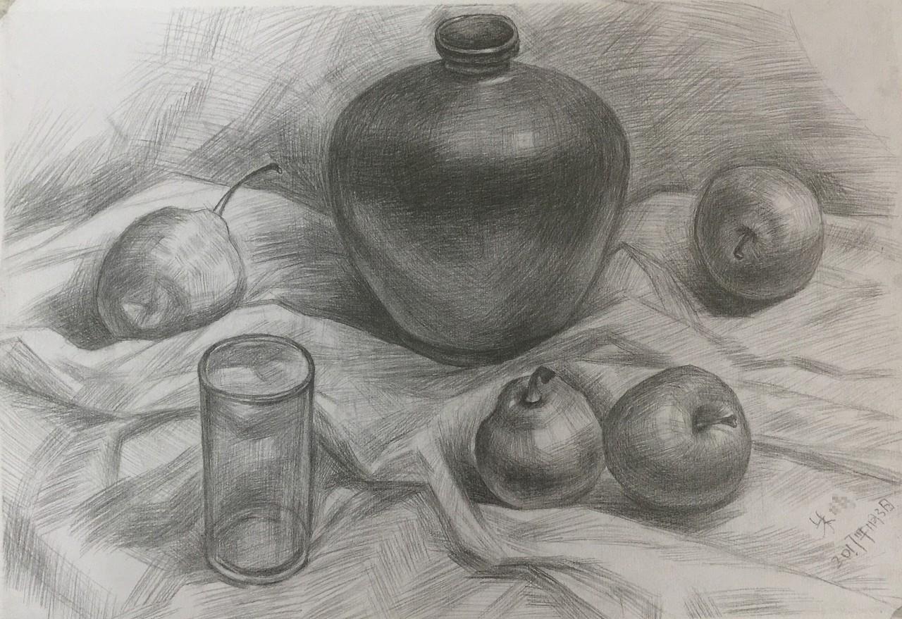 一些临摹的静物|纯艺术|素描|晴子酱95 - 原创作品