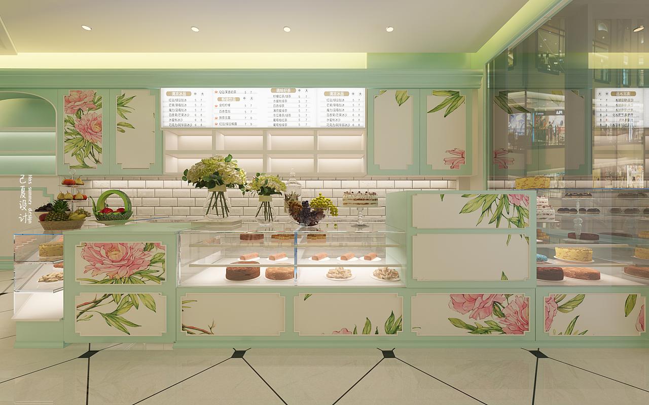 蛋糕店 空间 室内设计 已夏设计 - 原创作品 - 站酷