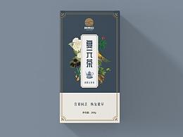 尚南山品牌组合花茶养生风格包装设计