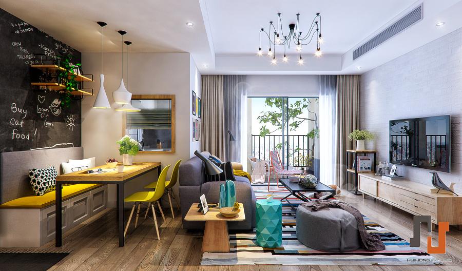现代北欧风格|室内设计|空间|delde - 原创设计作品
