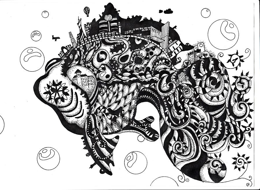 概念插画系列——黑白手绘|商业插画|插画|黄晴雨