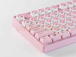 平面案例 | 粉色104键盘换装猫爪 & UNCLEFOTO
