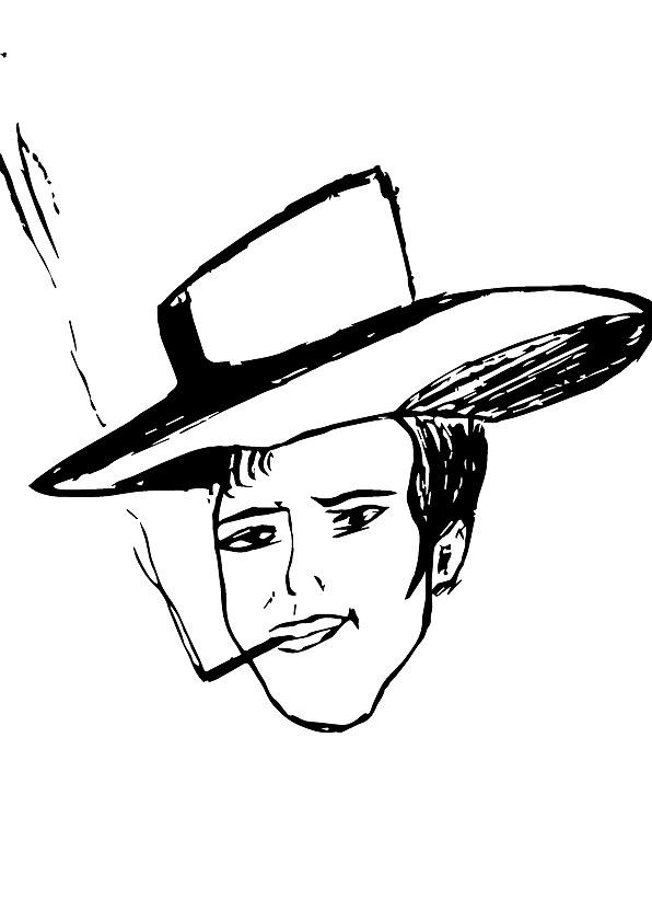 其实我不想画伍老师的,我想画的是一个电影明星,画着画着有点像你?图片