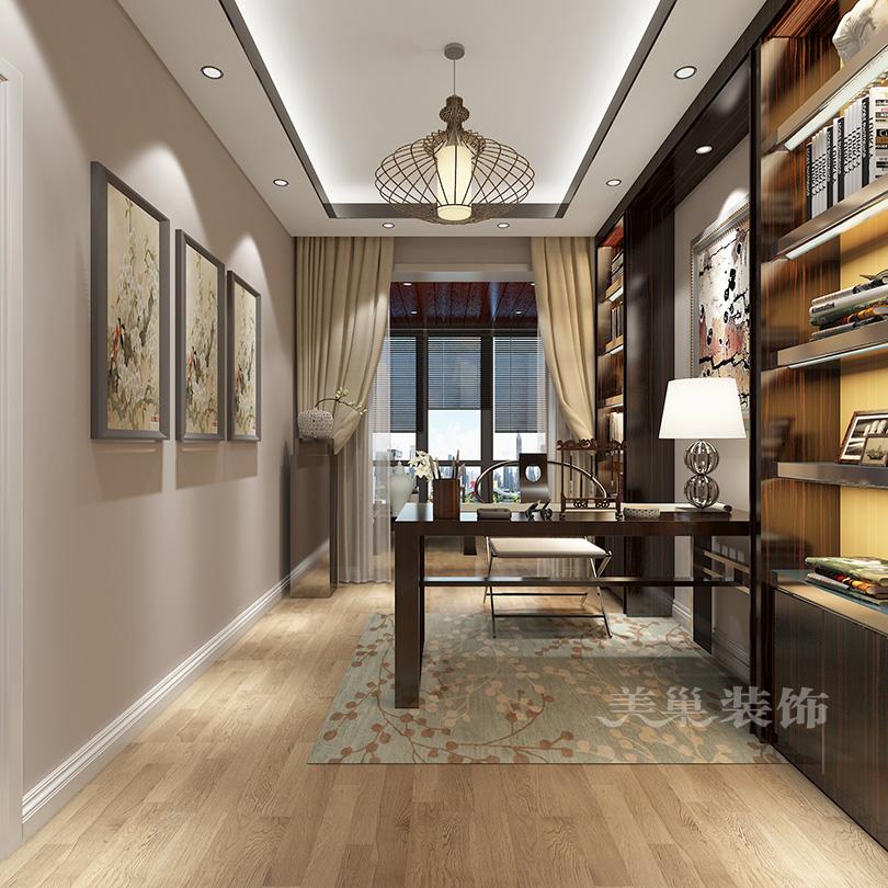 万业金城145平三室两厅新中式装修案例图片