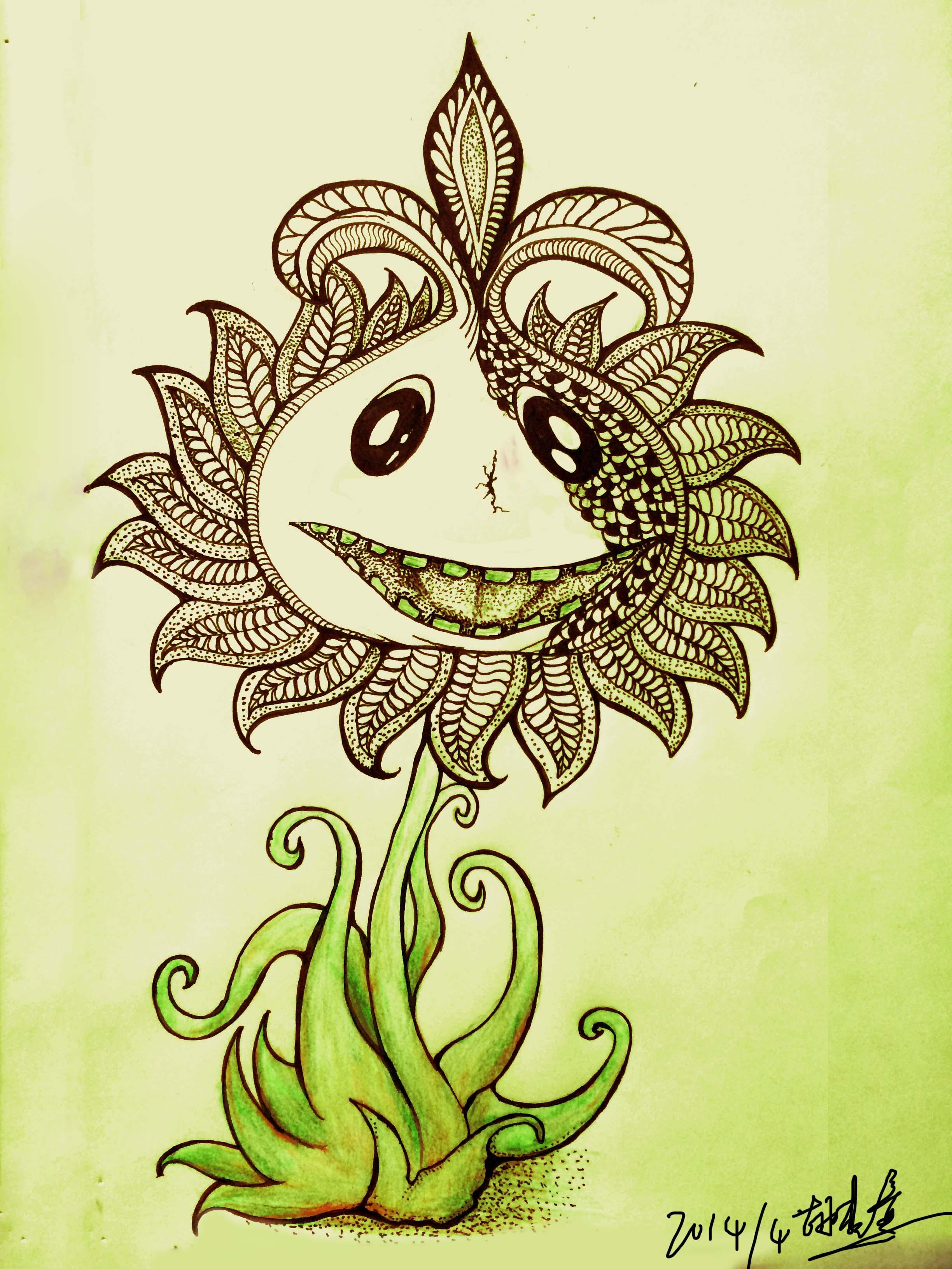 手绘插画|插画|插画习作|花木格 - 原创作品 - 站酷