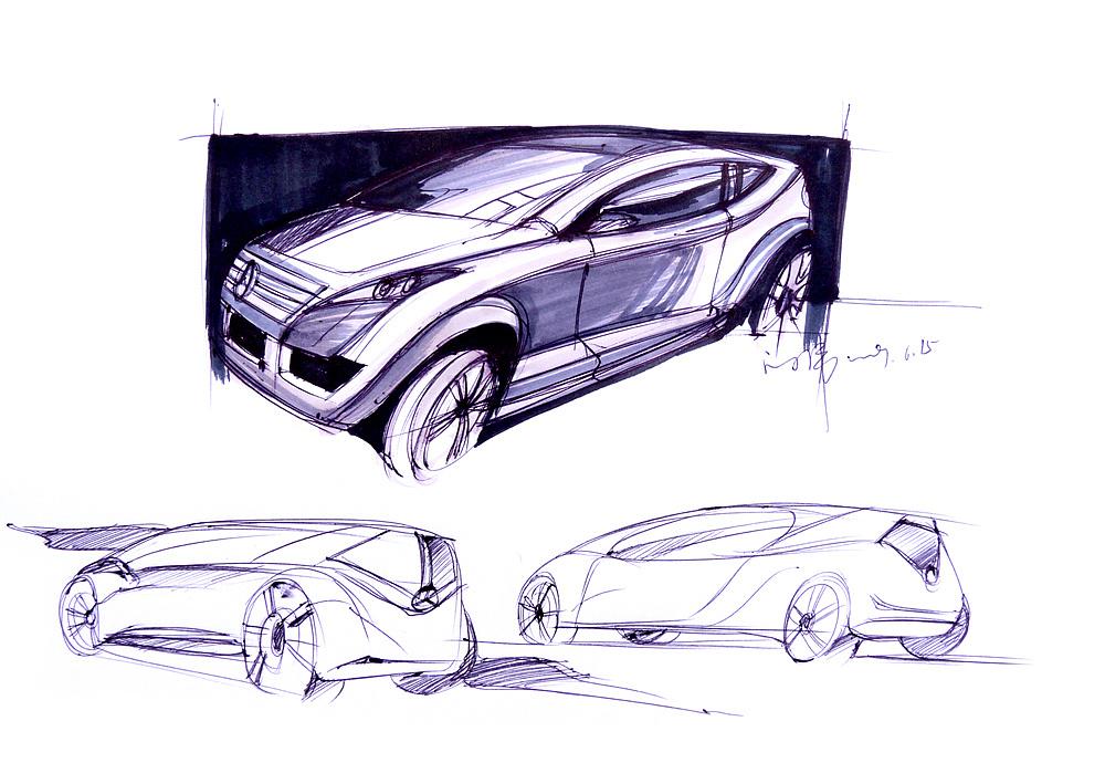 汽车草图 手绘|插画|概念设定|hdu_lww - 原创作品