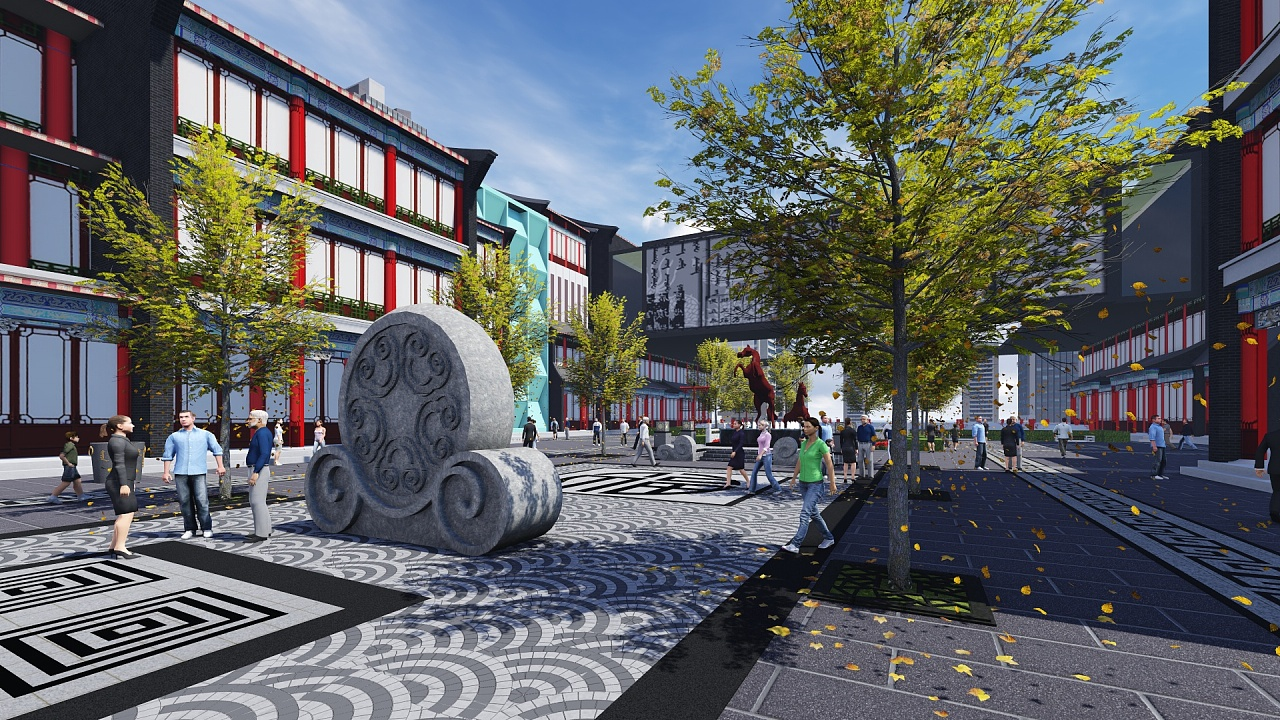 商业街图片_一个中式商业街|空间|景观设计|景观设计师CYL - 原创作品 - 站酷 ...