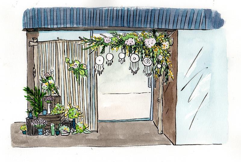 生日派对 婚礼现场布置手绘图商稿