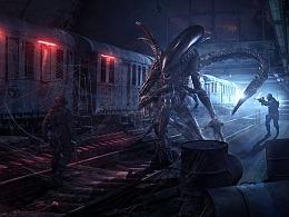 【异形Alien】概念级合成海报