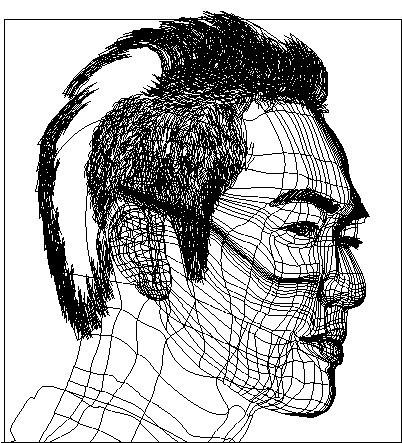 结构图 br>眉毛,头发,眼睛(除肤色部分),嘴(红色部分)为分开绘制,面部