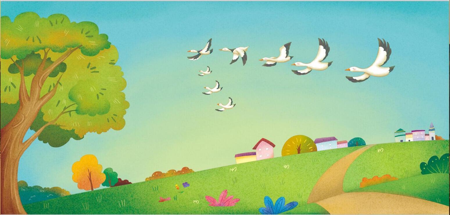 大雁 插画 儿童插画 小丑蘑 - 原创作品 - 站酷