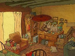 《错失的风景》动画短片场景(部分室内)