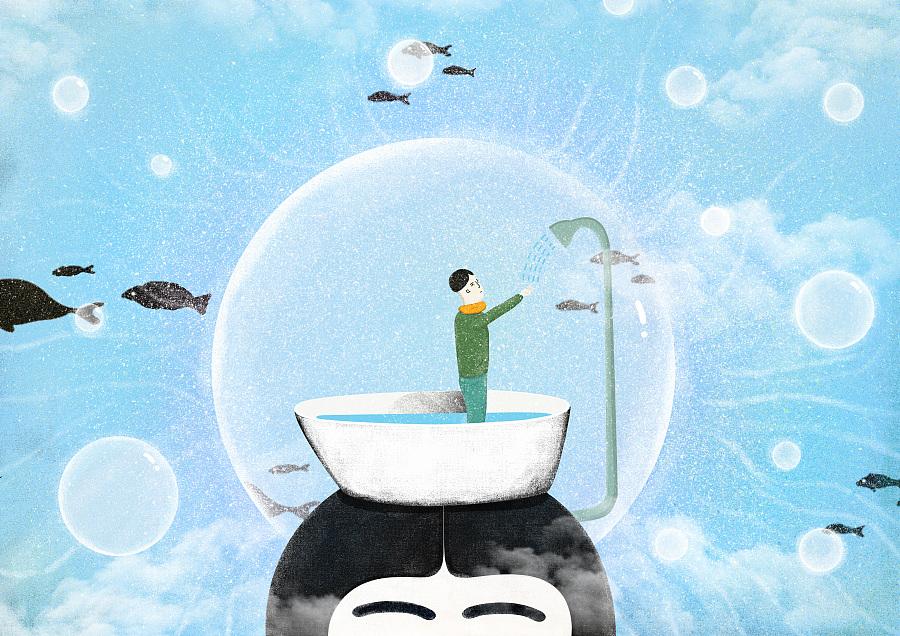 感恩父母《透明尘埃》|其他绘画|插画|huson