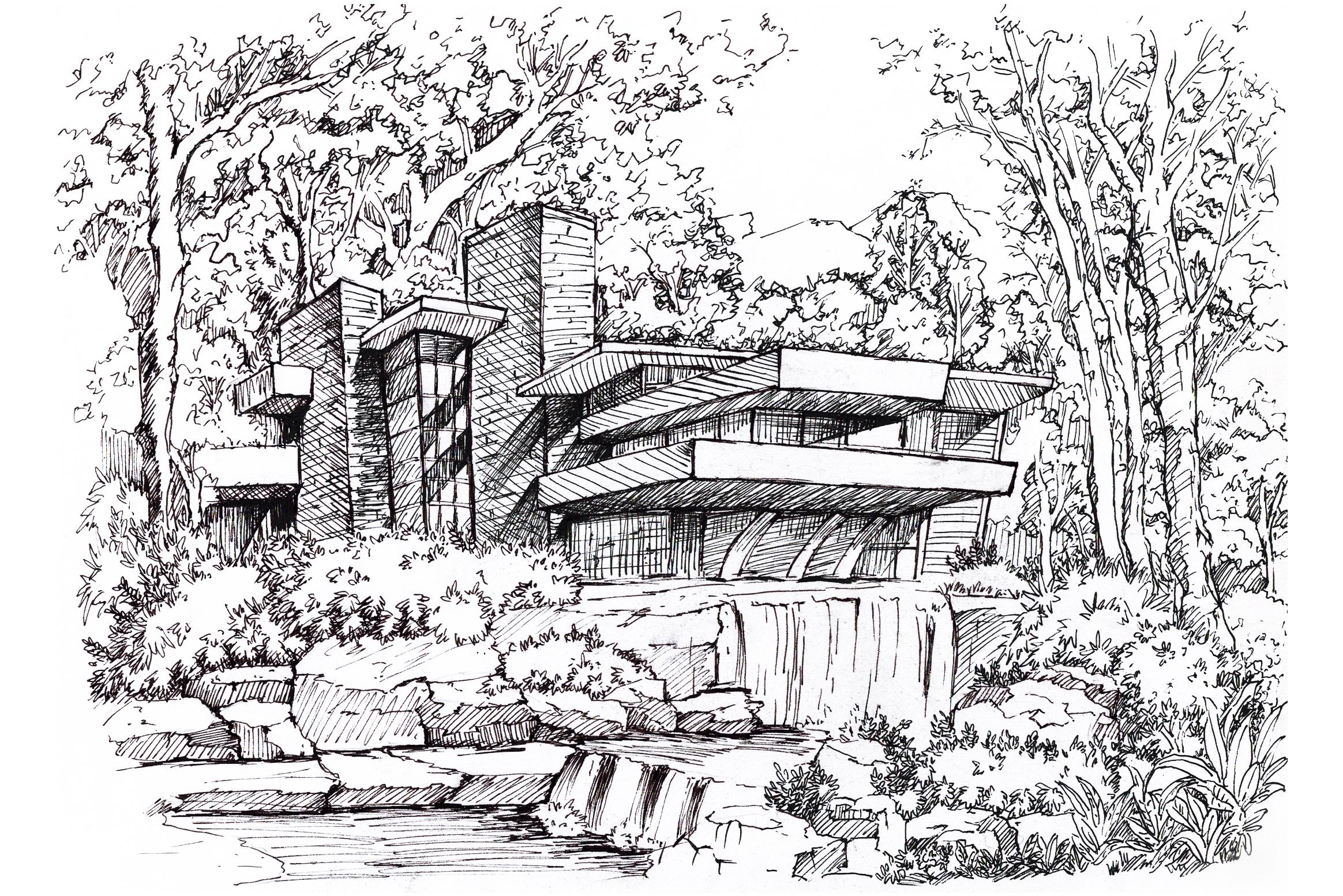 《流水别墅》                    —— 弗兰克·赖特