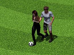 踢足球预演动画
