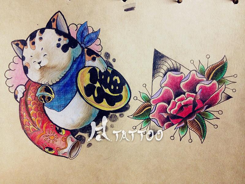纹身手稿|插画|商业插画|hr44 - 原创作品 - 站酷