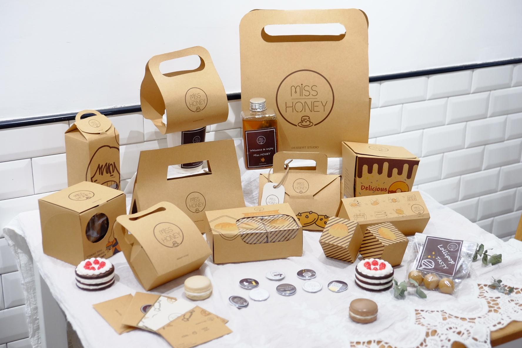 《miss honey》自创品牌|甜品包装设计图片