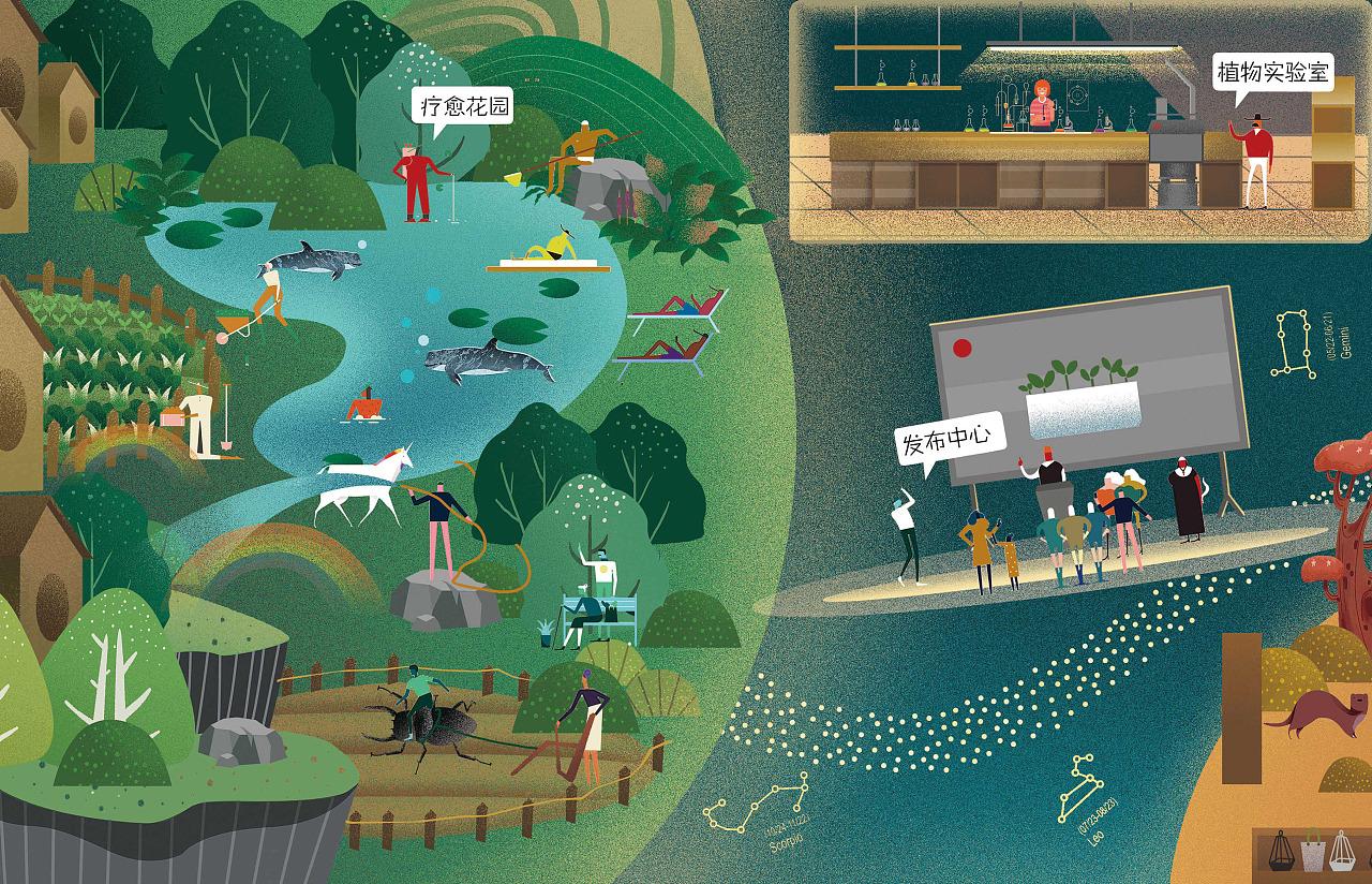 16号星球一楼咖啡生活馆地图手绘 6月28