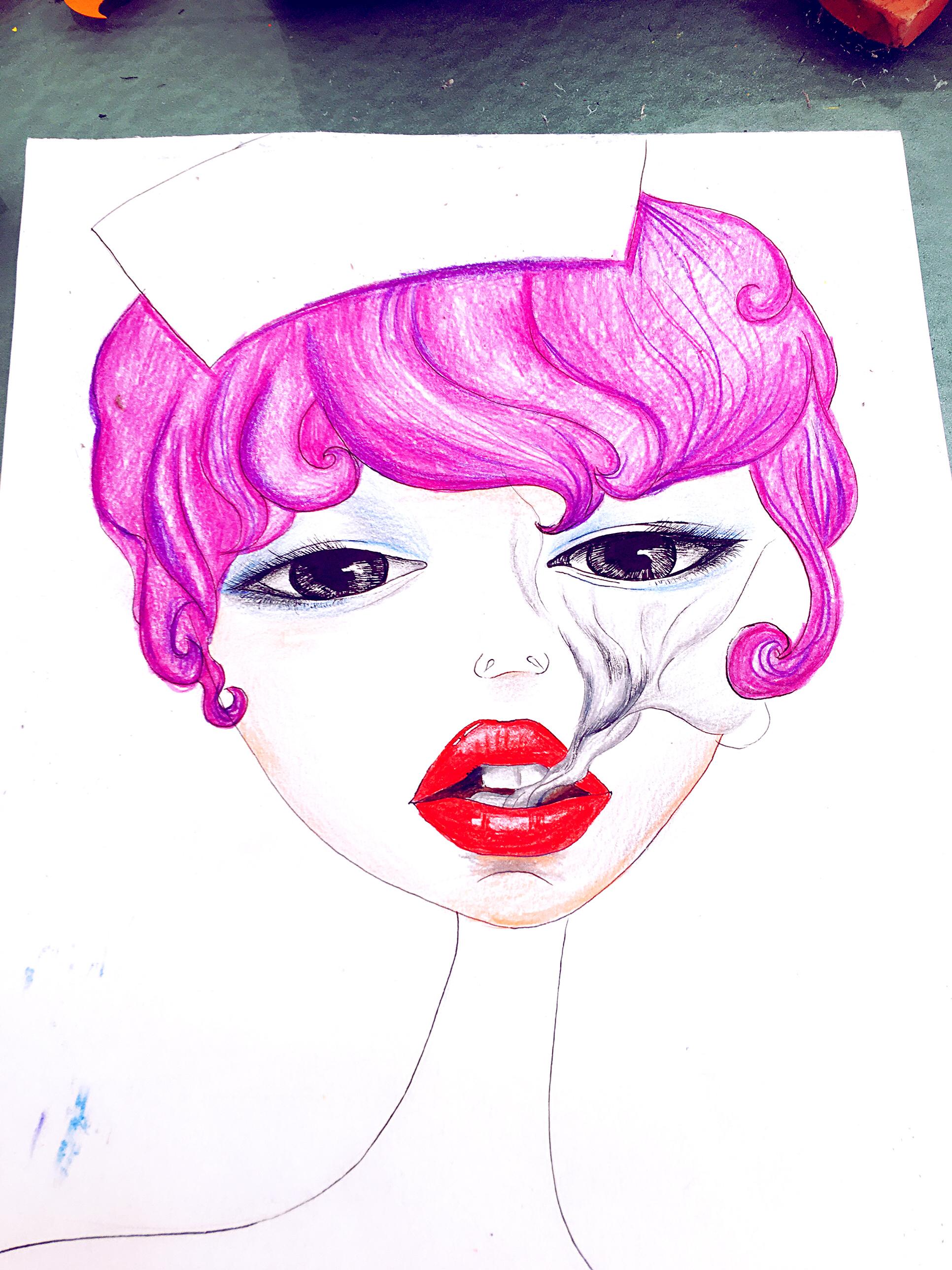 护士节,手绘插画,护士节海报