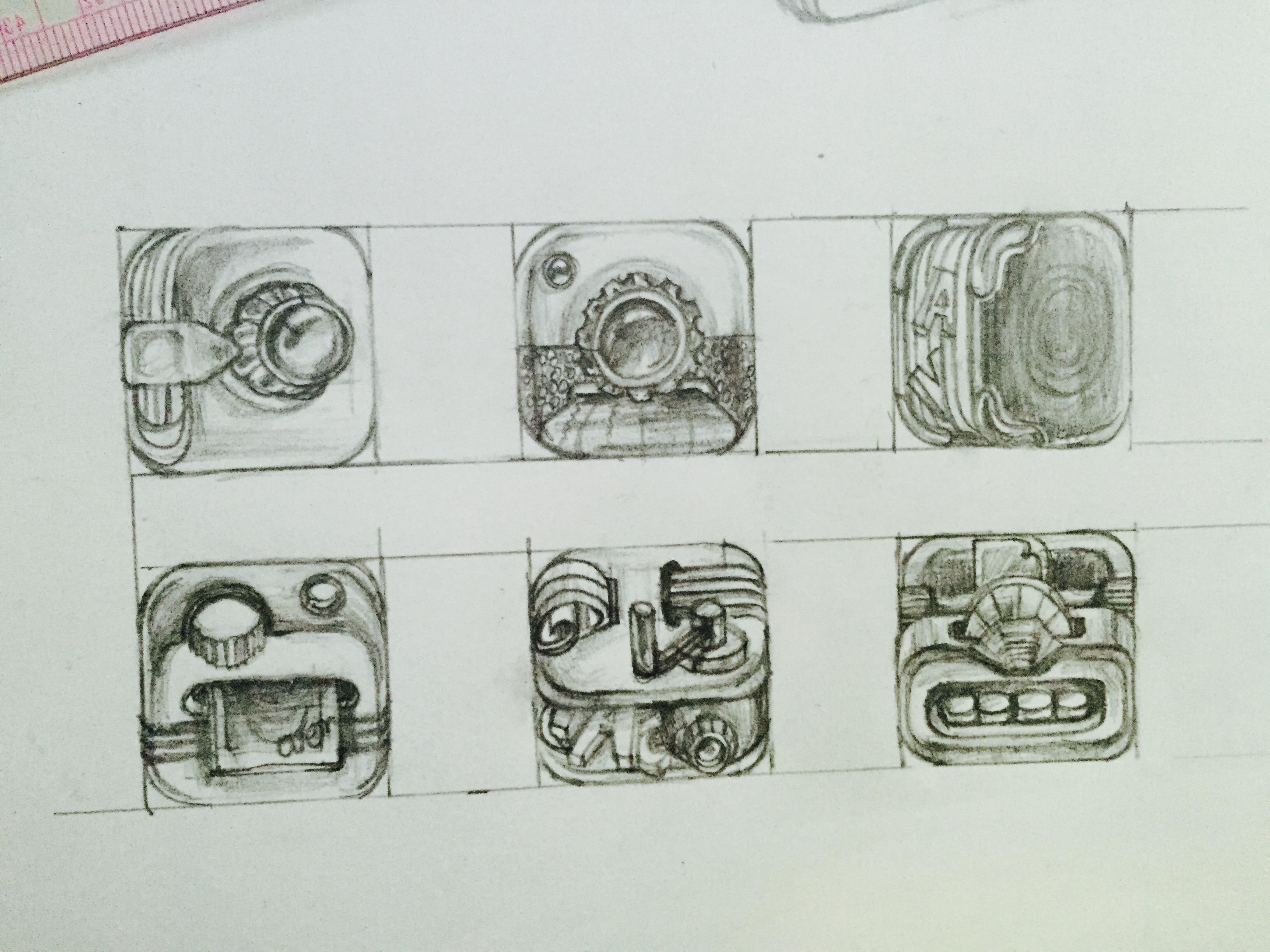 拟真相机icon手绘