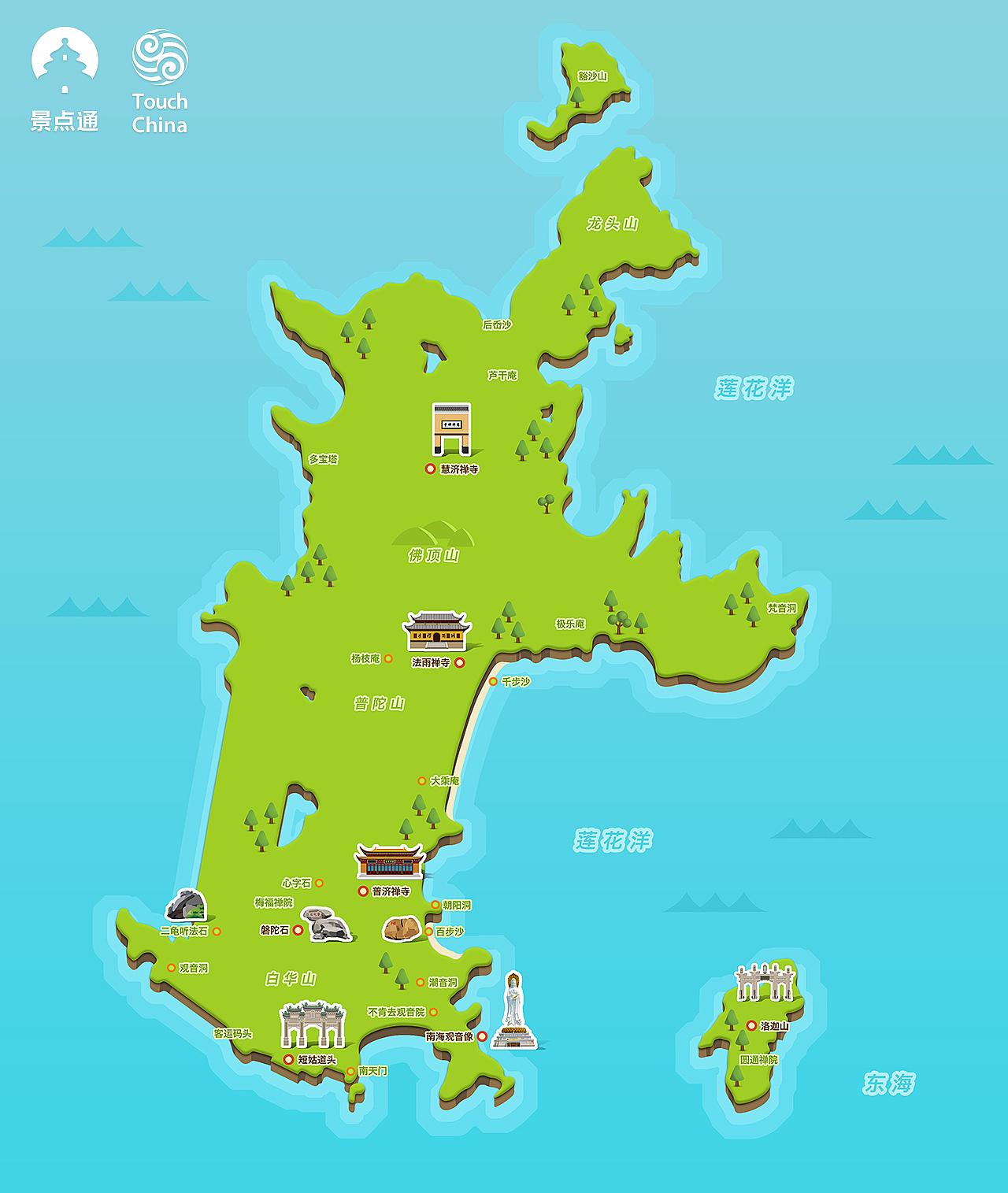 普陀山景区地图